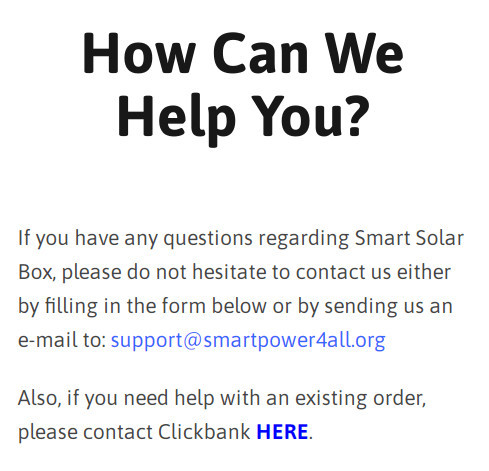 Smart Solar Box Support